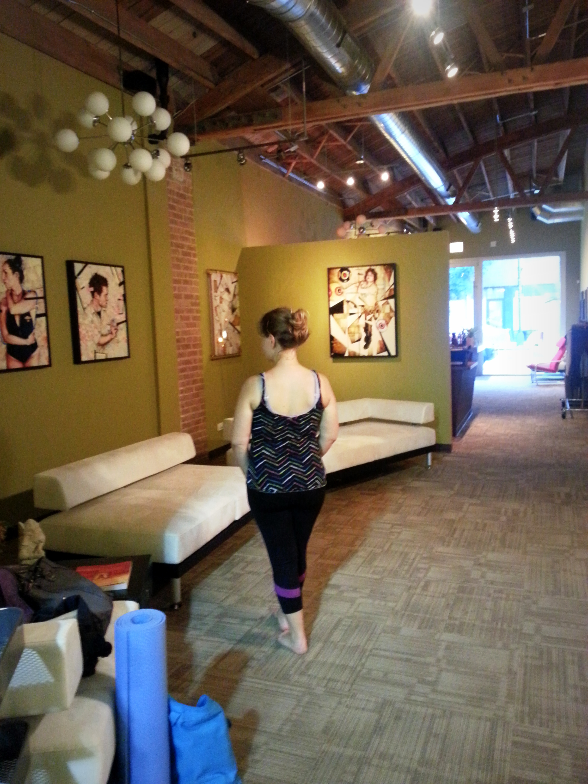 Zen Yoga Garage Is Unassumingly Tucked On Milwaukee Avenue In Between Western And Leavitt The Stand Out Feature It Literally Housed A Space